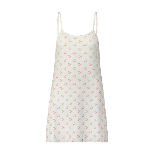 Polkadot Cherry Print SCOOP A LINE GOWN