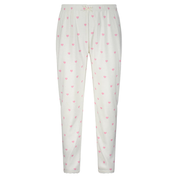 Polkadot GIRLS Pink Hearts Print PANTS w Lace Hems