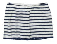 Polkadot GIRLS SHORT Breton Rib Stripe Navy/Cream