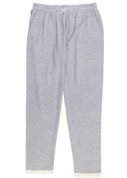 Polkadot GIRLS PJ PANT Navy/Cream Skinny Stripe