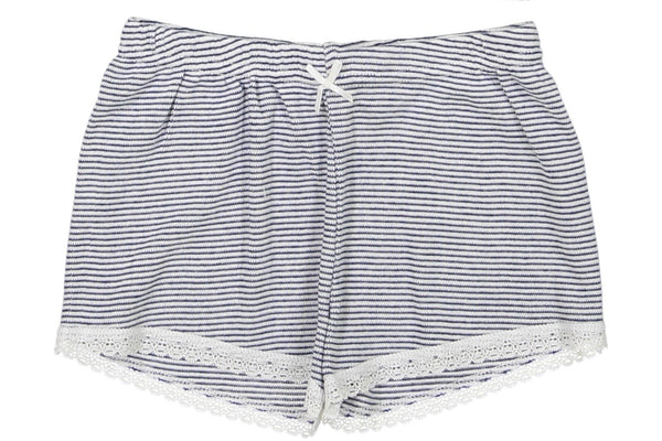 Polkadot GIRLS SHORT Navy /Cream Skinny Stripe