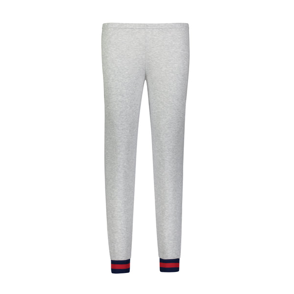 Polkadot JOGGER Heather Grey w Gigi Stripe Cuffs