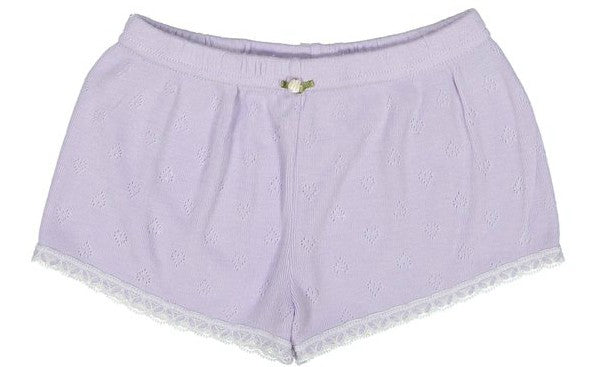 Polkadot GIRLS SHORT Lilac Vintage Hearts w Lace