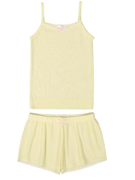 Polkadot GIRLS CAMISOLE Lemon Dot Pointelle