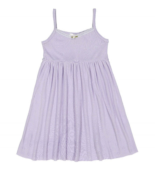 Polkadot GIRLS Babydoll Cami NIGHTGOWN Lilac Vintage Hearts