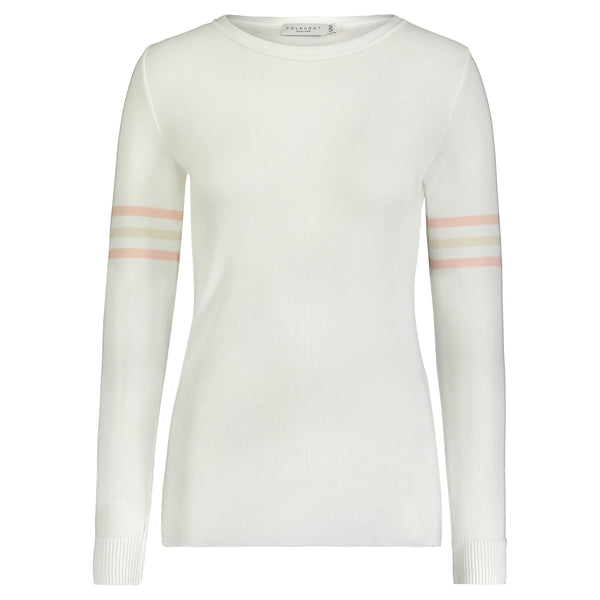 Polkadot Sally Stripe Group CREAM Sophia Slouchy Crew LS