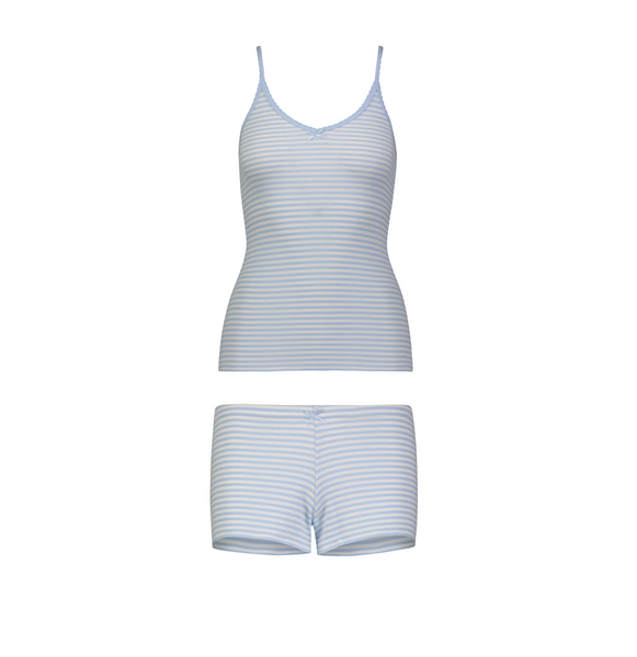 NEW! Polkadot usa Women's Sailor Stripe Short + Cami Set