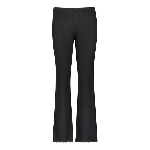 *Polkadot USA Womens Black Ribbed Long Pant*
