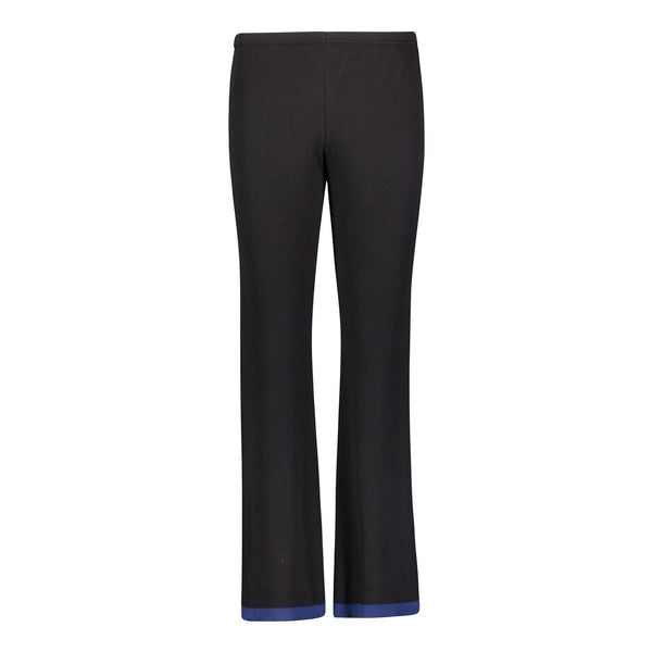 Polkadot PANT Black w Navy Border Stripe Hem