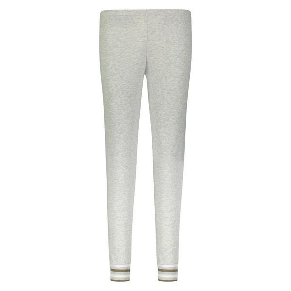 Polkadot JOGGER Heather Grey w Loden Stripe Cuffs