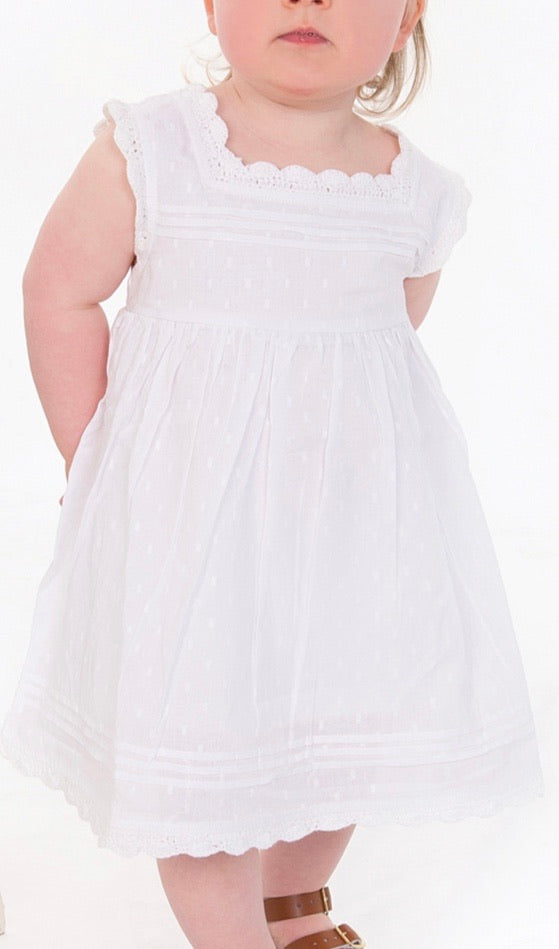 TINY TWIG White Blossom Dress