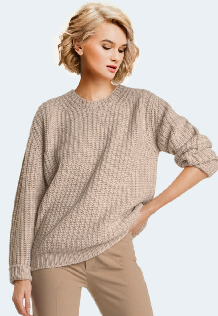 RICHARD GRAND ~Cashmere Crewneck Slouchy Sweater 2026