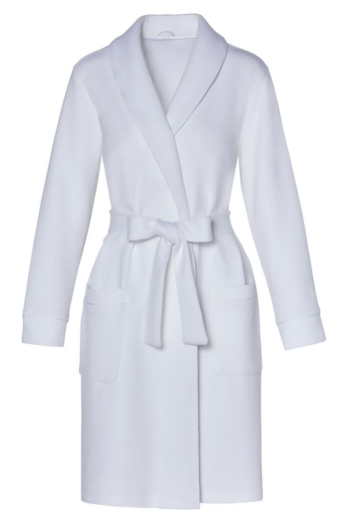 CARMEN VON GLASER/MARELLE~Carolina piquet short robe