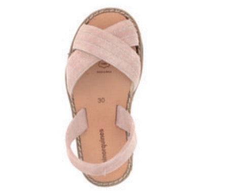 MINORQUINES Girls Velour Sandal