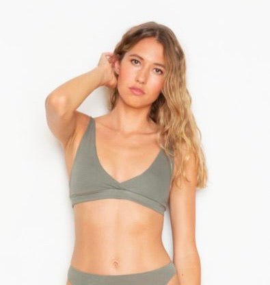 ONLY HEARTS~ Organic cotton High Point bralette