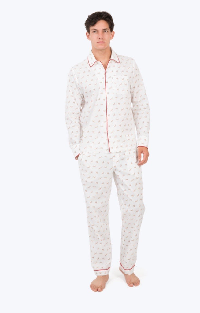 SLEEPY JONES Mens Printed deer pj set