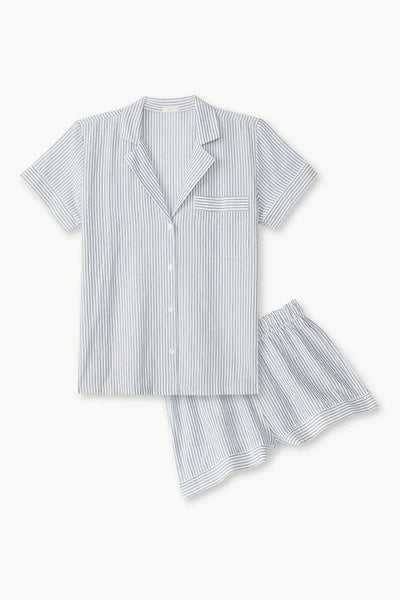 EBERJEY~ 2 pc Nautico stripe short set
