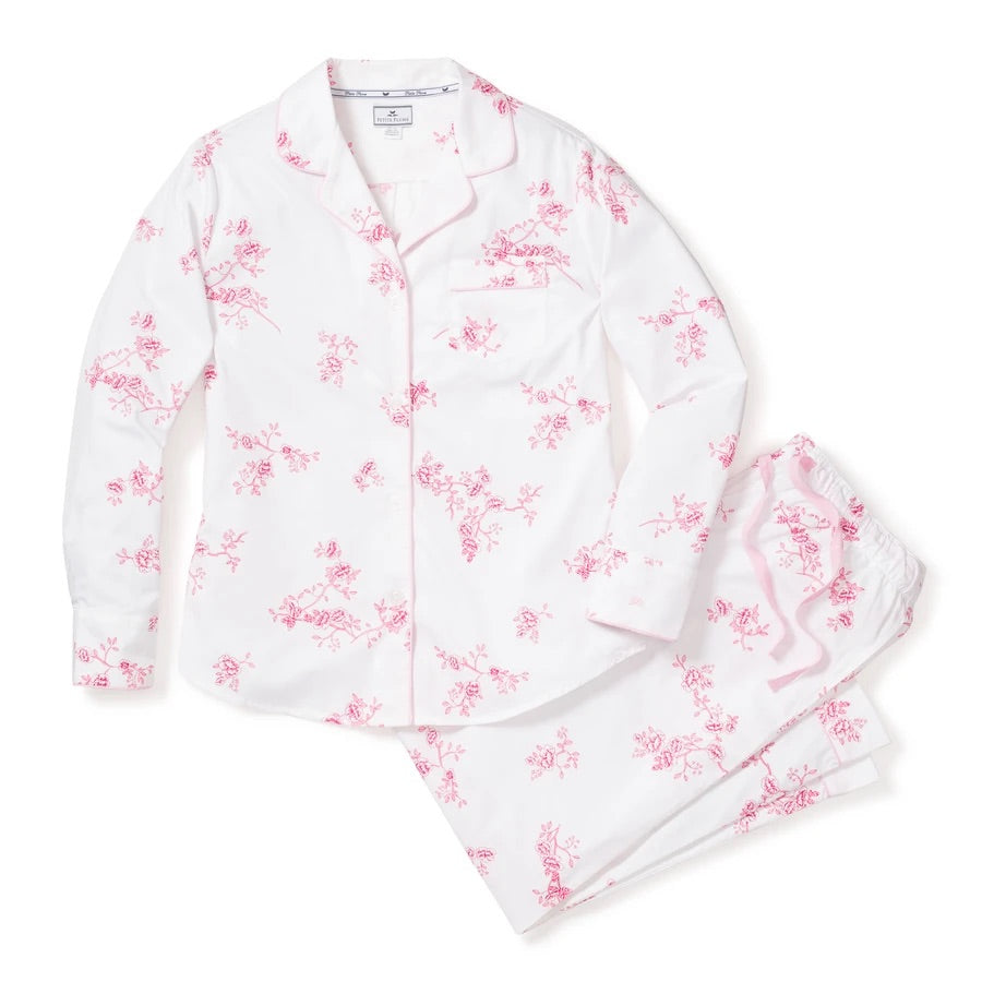 PETITE PLUME~ English rose 2 pc floral pj set