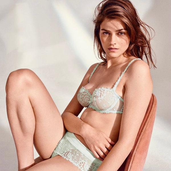 SIMONE PERELE ~ Wish Demi cup bra -Sea green