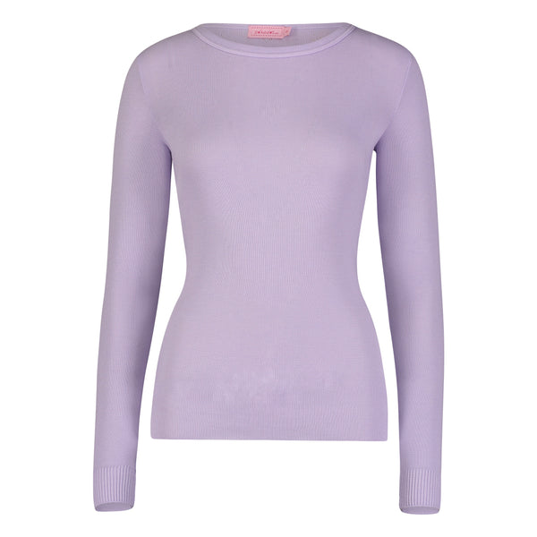 Polkadot SLOUCHY CREW LS LILAC Solid Knit