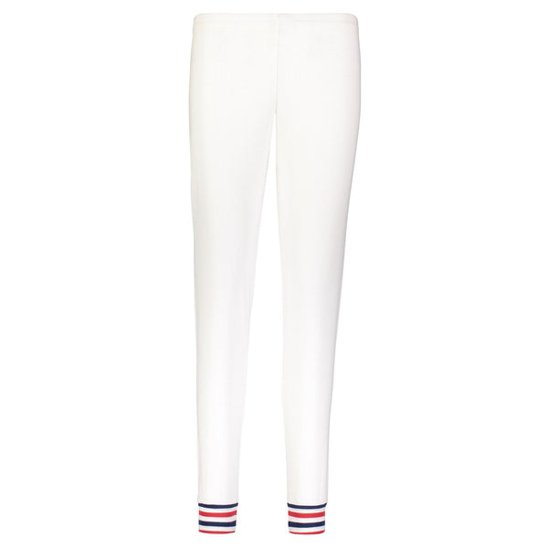 Polkadot JOGGER Cream w Red/Navy Stripe Cuff