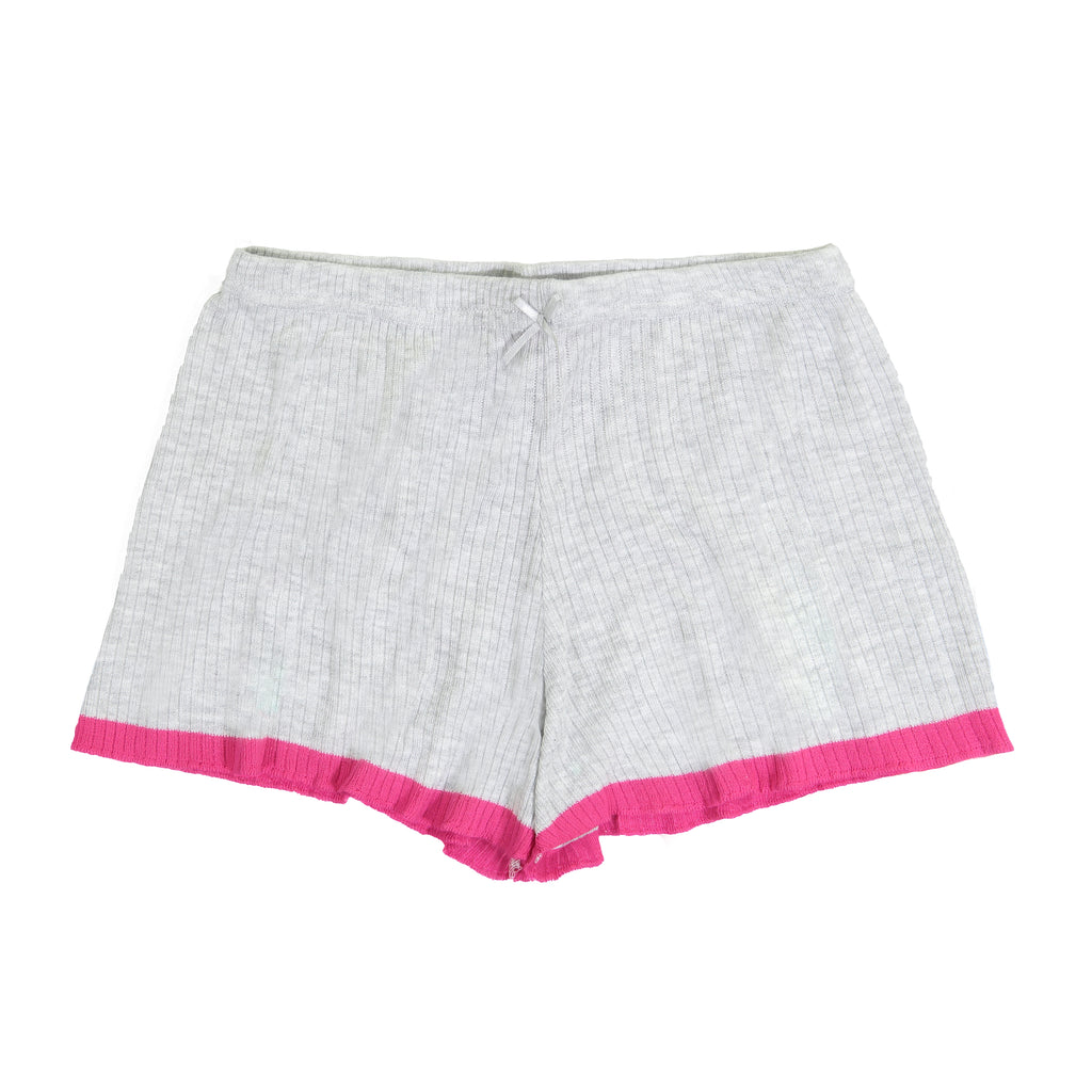 Polkadot USA Womens Pink Trim Grey Short
