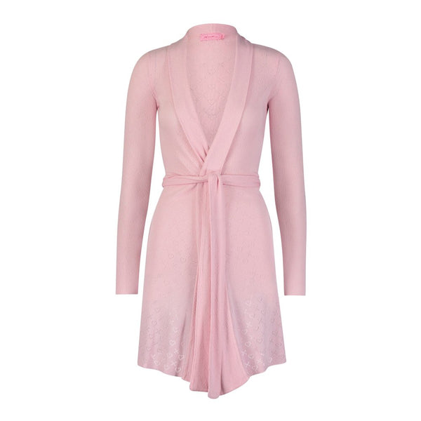 Polkadot USA Womens Pink Pointelle Robe