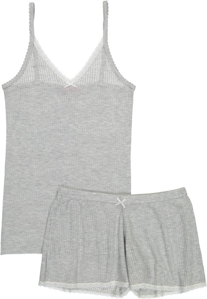 Polkadot USA Womens Grey Ribbed Camisole