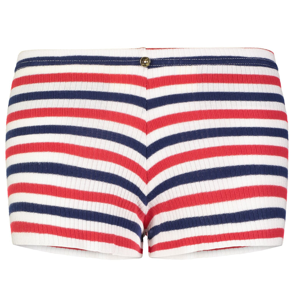 Polkadot SHORT Lee Rib Stripe Red/Cream/ Navy
