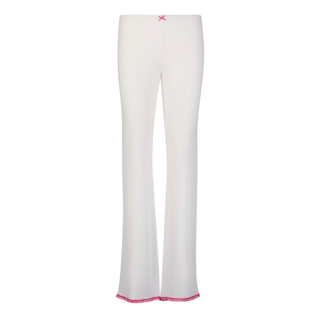 Polkadot USA Womens Pink Trim Long Pant
