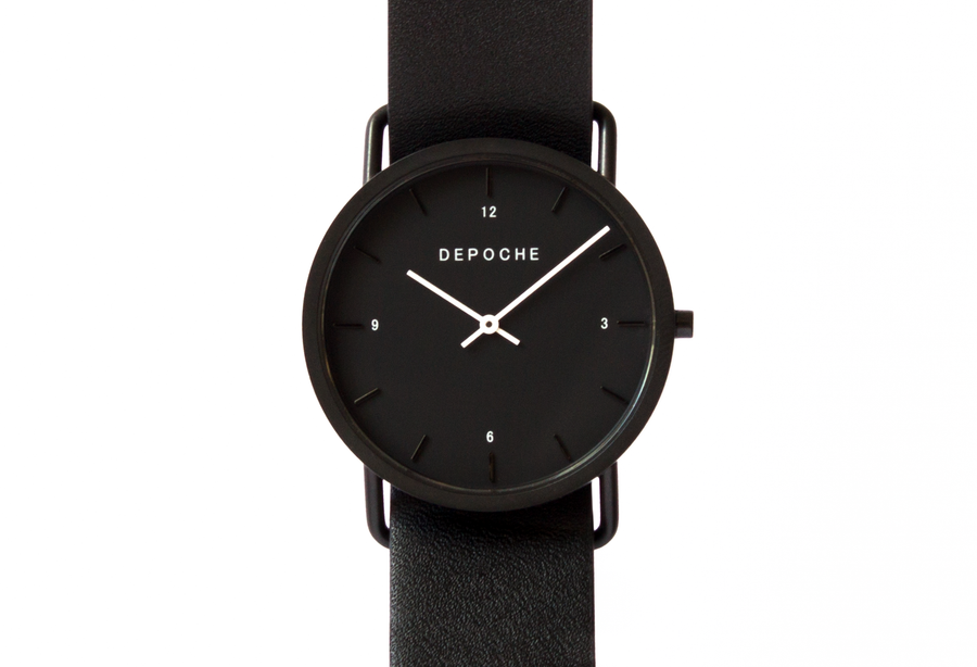 Depoche-trench-watch-black-black