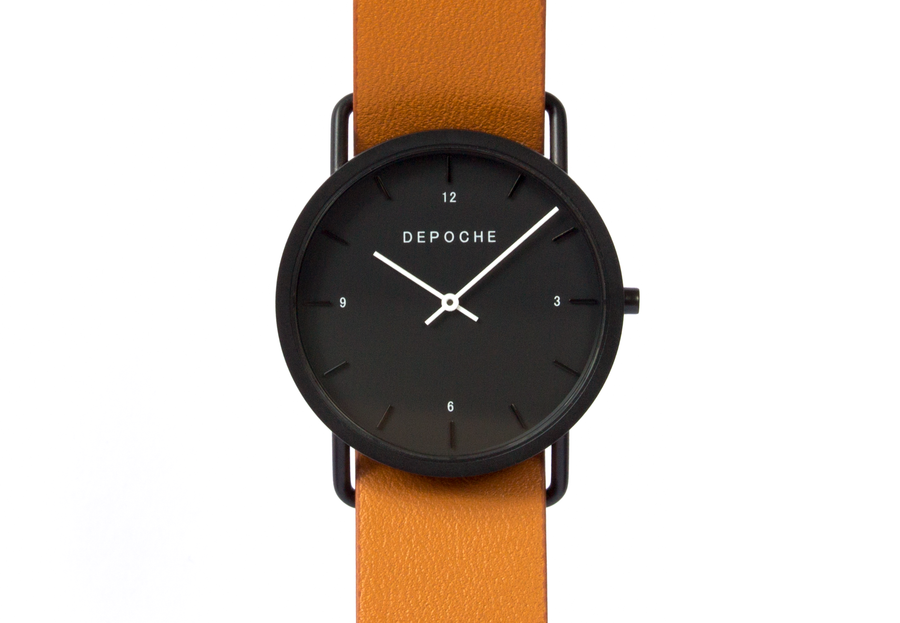 Depoche-trench-watch-black-brown