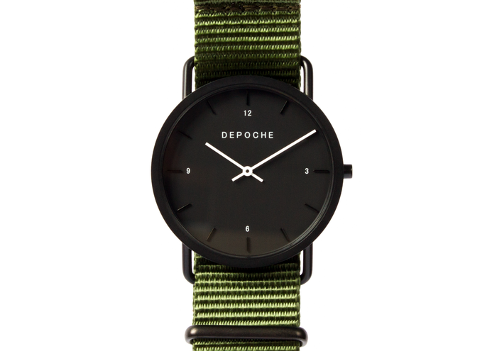 Depoche-trench-watch-black-green