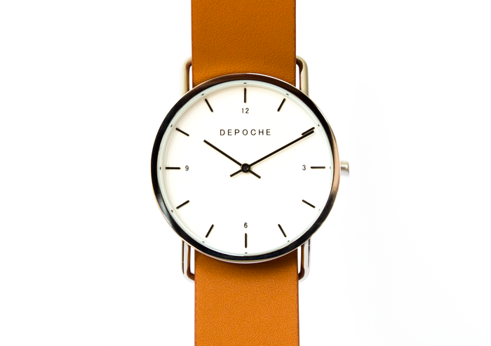 Depoche-trench-watch-silver-brown