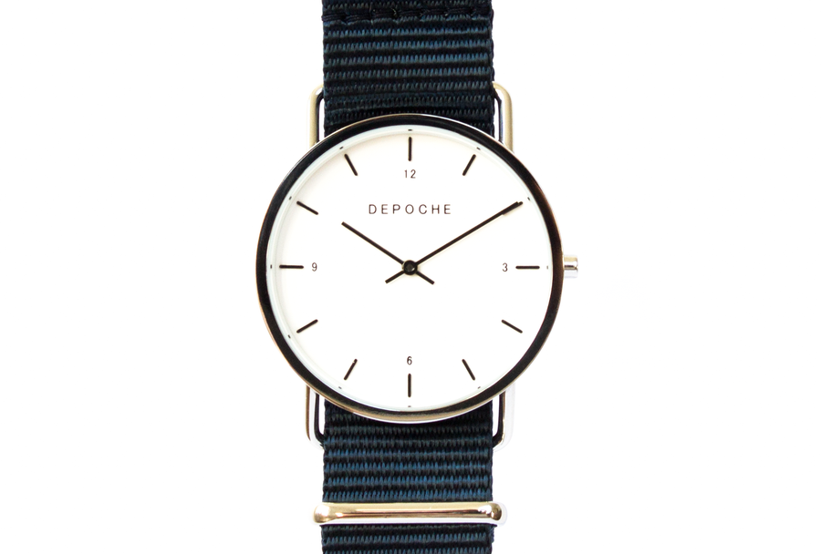 Depoche-trench-watch-silver-indigo