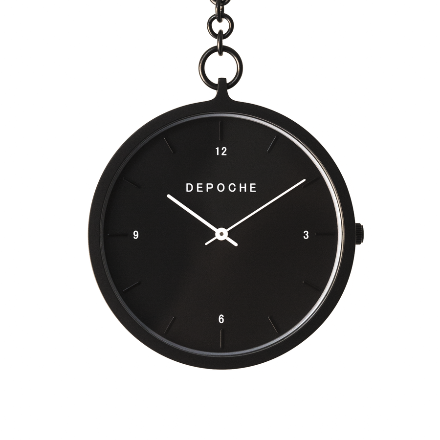 Black Pocket watch - DEPOCHE | Pocket & Trench Watches