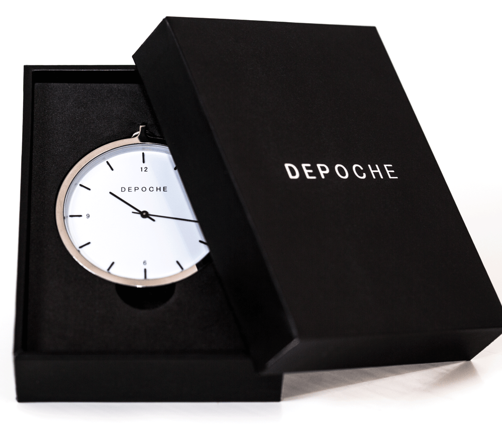 Silver Pocket watch - DEPOCHE | Pocket & Trench Watches - 2