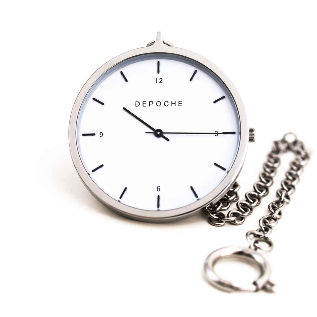 Silver Pocket watch - DEPOCHE | Pocket & Trench Watches - 5