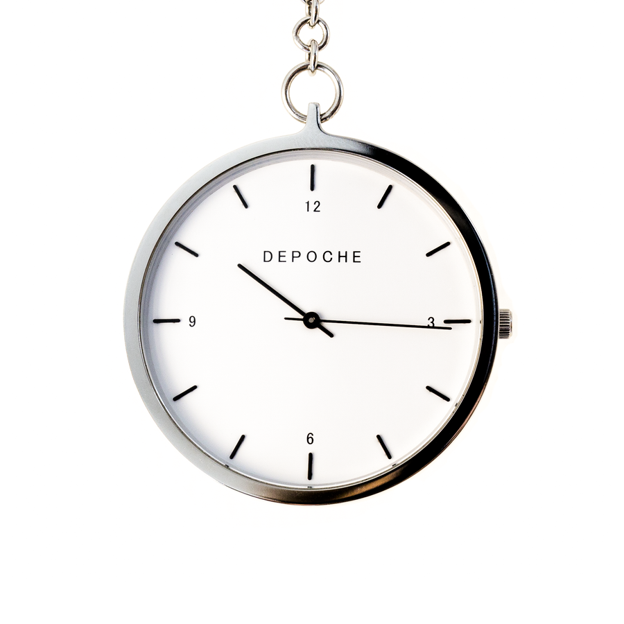 Silver Pocket watch - DEPOCHE | Pocket & Trench Watches - 1