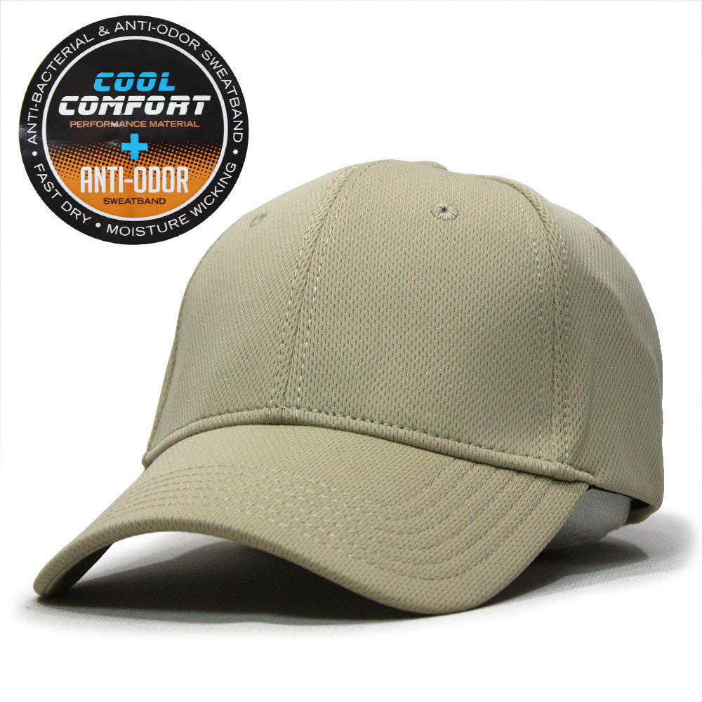 04eed385b52 ... Cool Comfort Polyester Mesh with Anti-Odor Sweatband Low Profile  Adjustable Baseball Caps ...
