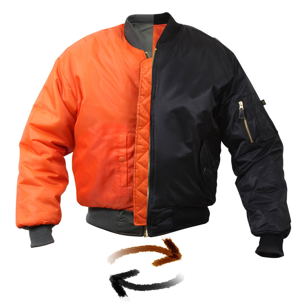 ab81ce643 Classic Reversible Air Force Military MA-1 Bomber Flight Jacket