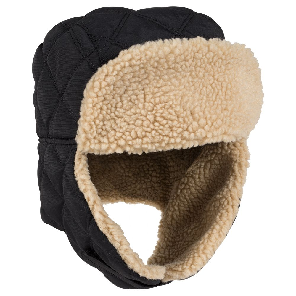 Quilted Shell with Shearling Faux Fur Lining Winter Trooper Hunting ... 203431d948a