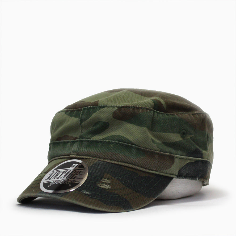 Distressed Red Stitch Low Profile Washed Cotton Adjustable Army Cadet Hat 368ab091ceb
