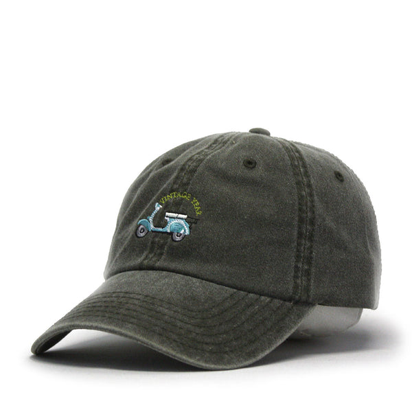 Scooter Embroidered Washed Cotton Adjustable Dad Hat Baseball Cap ecc602e4b67