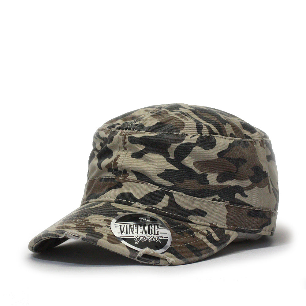 3ca4e9f3944 Camouflage Washed Cotton Distressed Visor Military Radar Army Cadet ...