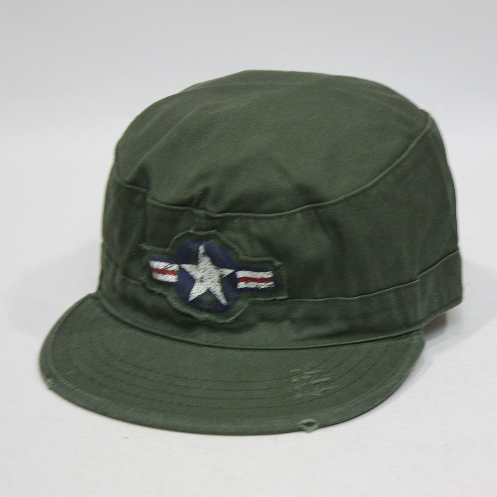 Vintage Air Corps Distressed Fatigue Military Combat Cadet Cap