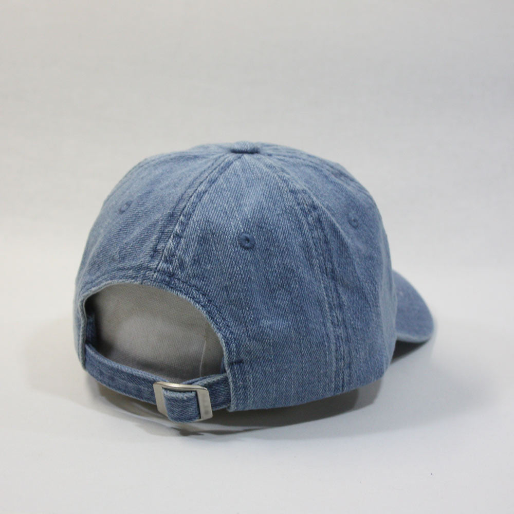 1723cdd3188 Washed Denim Cotton Low Profile Adjustable Dad Baseball Cap