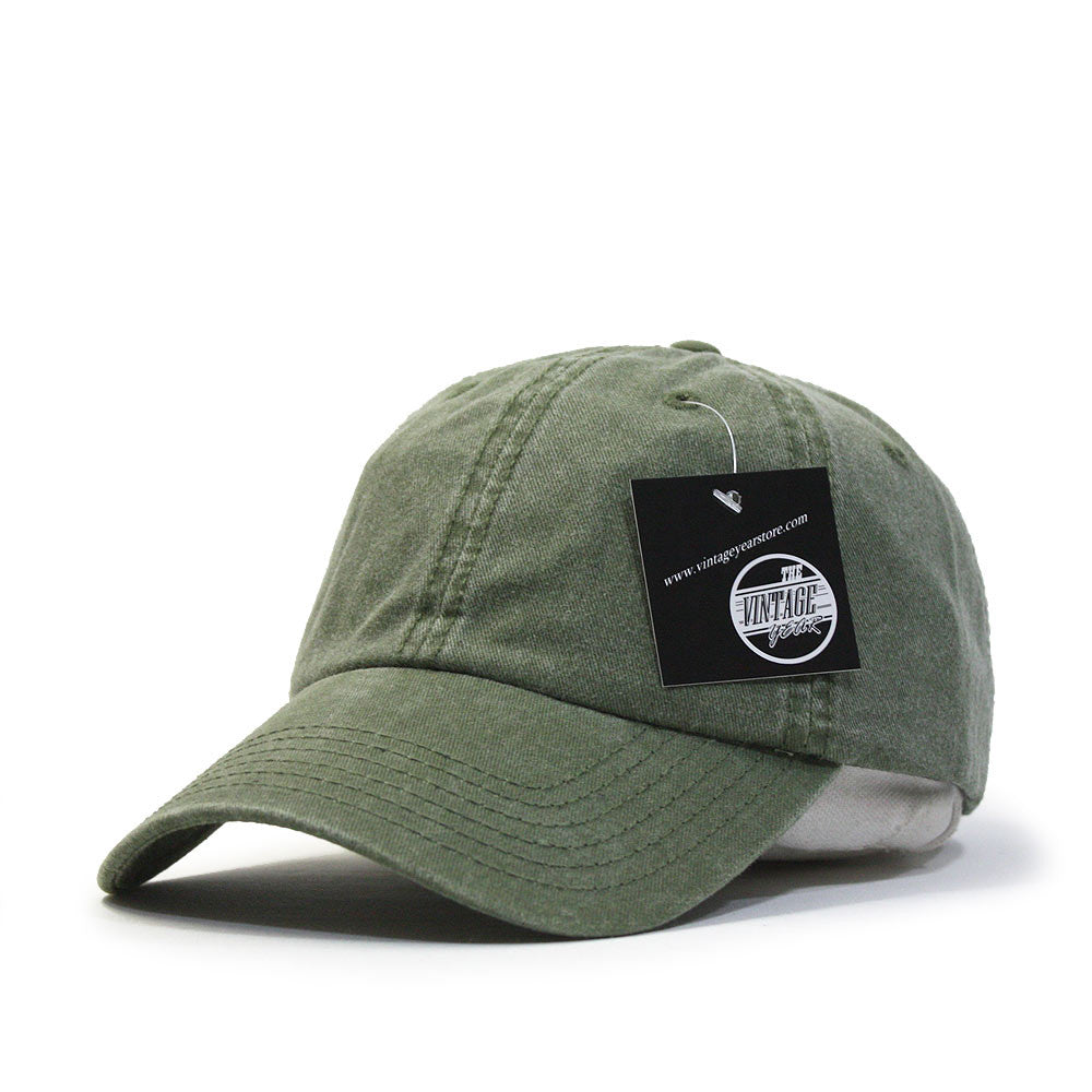 Plain Washed Cotton Twill Dad Hat Baseball Cap with Adjustable Velcro 47a3b324373c