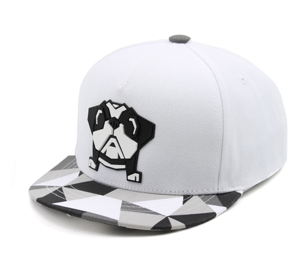 Kids Bulldog Origami Sculpture Boys Girls Flat Bill Snapback Baseball Cap 5c9b125219db