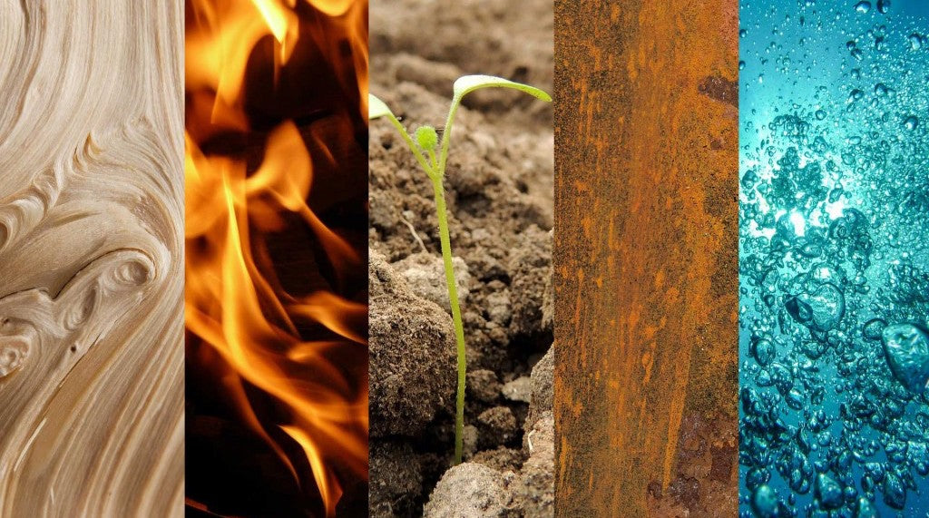 The five elements: water, wood, fire, earth, and metal